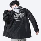 男裝印花教練夾克潮流棒球服外套