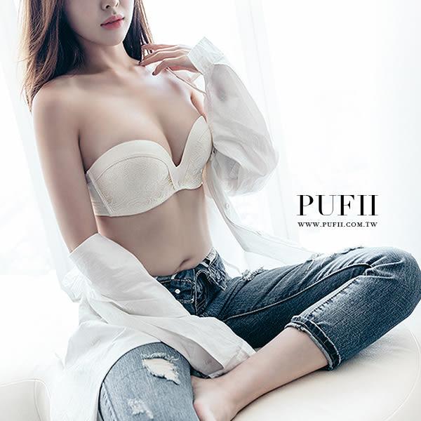 PUFII內衣麻豆指定止滑爆乳素面/蕾絲無痕內衣3色0713現+預夏【CP13131】