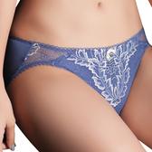 思薇爾-慕夏星空系列M-XL蕾絲低腰三角內褲(皇室藍)