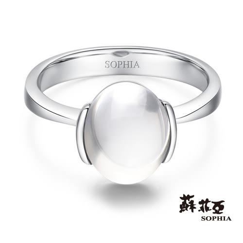 蘇菲亞SOPHIA - 玩美寶石系列 月光石橢圓形寶石戒指