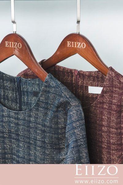 【EIIZO】合身剪裁格紋魚尾洋裝(黑)