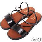 Ann'S乾淨簡單-素面兩穿氣墊寬版平底...