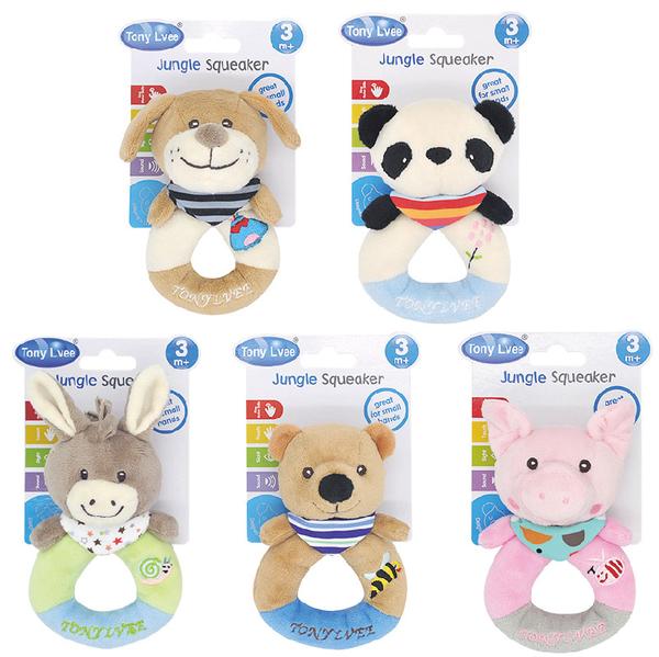 安撫玩具 寶寶手抓偶 嬰兒圈圈手抓偶  嬰兒玩具 有聲早教玩具 益智玩具【KA0142】母嬰同室