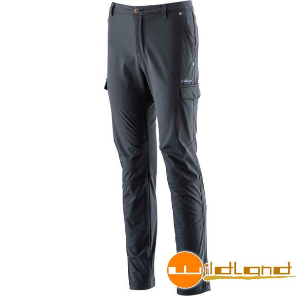 Wildland 荒野 0A22398-54黑色 男RE彈性貼合防風保暖長褲