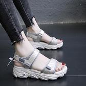 鬆糕涼鞋 鬆糕厚底涼鞋女仙女風年夏季新款網紅百搭運動老爹鞋子ins潮 交換禮物