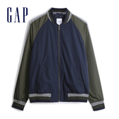 Gap男裝帥氣風格拉鍊棒球領外套536585-暗森木色