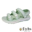【樂樂童鞋】GOODYEAR女款彈力運動涼鞋-綠色 G012 - 女童鞋 涼鞋 大童鞋 沙灘鞋 女款涼鞋 固特異