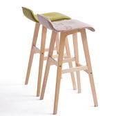 【IKHOUSE】北歐經典原木吧台椅-高腳椅-酒吧椅-咖啡廳-開店-原木-餐椅
