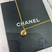 BRAND楓月 CHANEL 香奈兒 98年 LOGO金球項鍊 A09821 墜飾 首飾 配件 飾品 配飾
