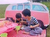 兒童野餐帳篷巴士汽車帳篷春游郊游帳篷寶寶游戲屋紅白格子野餐墊 芊惠衣屋 YYS