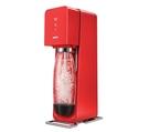 ◤SodaStream SOURCE◢ 氣泡水機 -紅色 全新自動扣瓶裝置,三階段氣泡含量指示