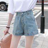 牛仔短褲女夏韓版學生復古高腰熱褲寬鬆