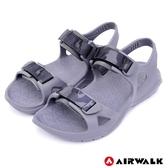 【AIRWALK】減壓緩震輕量休閒涼鞋-中灰