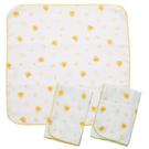 黃色小鴨 印圖紗布手帕~3入...