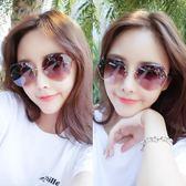 新款墨鏡女韓版潮圓臉防紫外線太陽鏡街拍開車眼鏡大臉