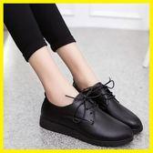 618年㊥大促 春季工作鞋女黑色平底防滑軟底圓頭軟皮鞋上班工鞋平跟單鞋面試鞋