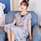 綿綢睡裙女士夏季薄款棉綢睡衣可愛無袖短袖性感家居服2021年新款 維多原創