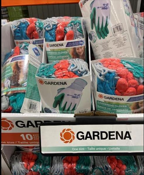 COSCO代購] C129819 GARDENA LATEX FORM GLOVES 乳膠園藝手套10入 單一尺寸