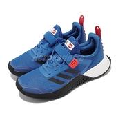adidas 慢跑鞋 LEGO Sport EL K 藍 黑 運動 女鞋 大童 中童 愛迪達 樂高系列 聯名 【ACS】 FX2870