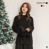 東京著衣-tokichoi-俏皮性感後背鏤空綁帶針織上衣(191862)