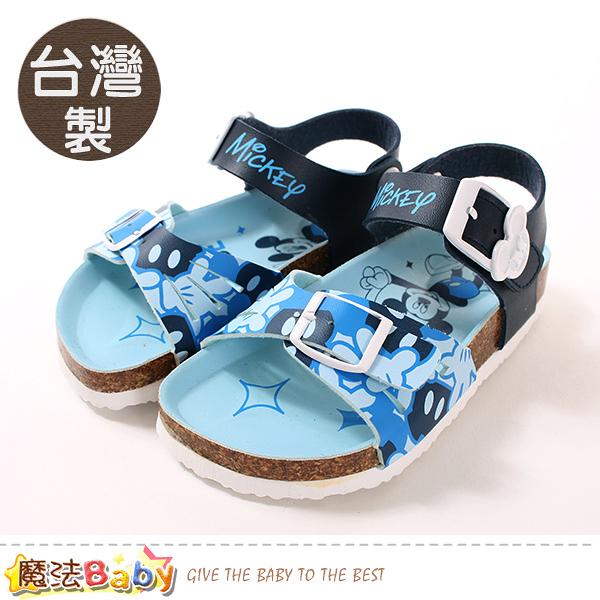 男童鞋 台灣製專櫃款迪士尼米奇正版涼鞋 魔法Baby