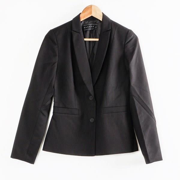 【MASTINA】雙扣西裝外套-黑  秋裝限定嚴選