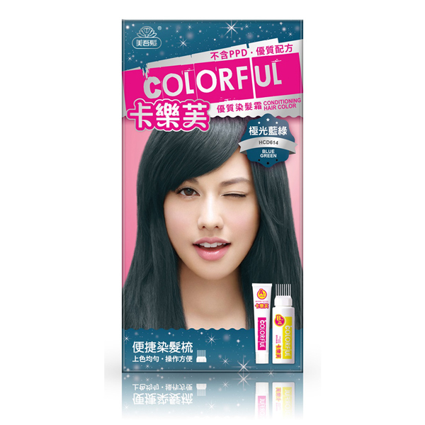卡樂芙優質染髮霜-極光藍綠 【康是美】