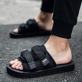 拖鞋男士夏季一字拖潮流韓版個性涼鞋外穿時尚室外夏天沙灘鞋涼拖 琉璃美衣
