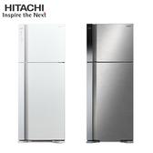[HITACHI 日立家電]460公升 雙風扇雙門冰箱-典雅白/星燦銀 RV469