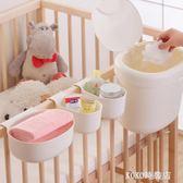 宜家嬰兒床尿布臺收納袋嬰兒用品盒整理床頭尿布帶掛籃多色 koko時裝店