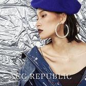自制款/珍珠耳圈耳環韓國 氣質女耳飾
