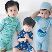 男童泳裝 兒童游泳衣男童連體寶寶小中童小孩嬰幼兒學生游泳褲泳裝套裝送帽