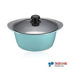 韓國原裝進口Kitchen Art 時尚鈦晶石湯鍋(24cm附玻璃鍋蓋) 鈦石鍋 可燉全雞深湯鍋