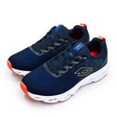 LIKA夢 LOTTO 專業風動輕量慢跑鞋 VENTO系列 藍橘 0756 女