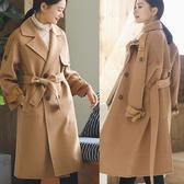 外套-重手工雙面羊毛羊絨中長版毛呢大衣/設計家 SF233