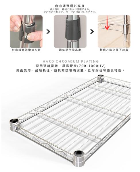 莫菲思 超荷重型120x45x180三層置物架 鎖管 鐵架 置物架 層架 架 收納 收納櫃