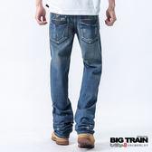 BIG TRAIN 低腰貼袋垮褲-男-中藍