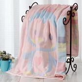 新年好禮 大浴巾純棉紗布八層浴巾超強柔軟親膚卡通吸水毛巾被