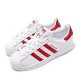 adidas 休閒鞋 Superstar 白 紅 貝殼頭 女鞋 男鞋 經典百搭款 運動鞋【PUMP306】 BD7420