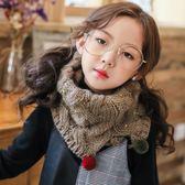 兒童圍巾 兒童秋冬季圍巾男童女童韓版針織毛線保暖寶寶套頭圍脖毛球加厚潮