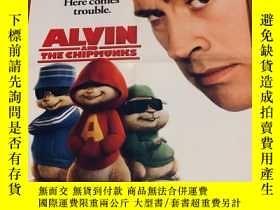 二手書博民逛書店看電影海報罕見A面 :ALVIN and the chip mu