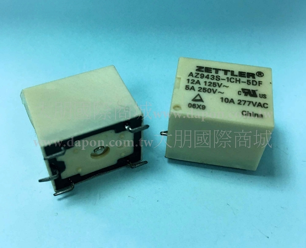 *大朋電子商城*AMERICAN ZETTLER AZ943S-1CH-5DF 繼電器Relay(5入)