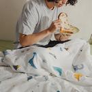 【青鳥家居】 雙面雙層紗涼感紗 涼被枕套組單人 - 尼爾