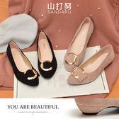 娃娃鞋 C釦絨布低跟鞋- 山打努SANDARU【03D807#46】