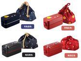 便當盒 盒午餐日本ASVEL雙層飯盒便當盒日式餐盒可微波爐加熱塑料 分隔午餐盒