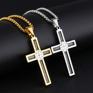 《QBOX 》FASHION 飾品【C100N1206】精緻個性鋼絲十字架鈦鋼墬子項鍊(四色)