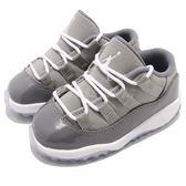Nike Air Jordan 11 Retro Low BT Cool Grey 喬丹 11代 低筒 灰 白 麂皮 童鞋 小童鞋【PUMP306】 505836-003