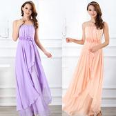 優美線條腰間立體玫瑰點綴不規則垂綴層次長裙禮服-美之札