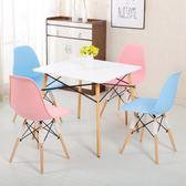 北歐風家用快餐奶茶店小戶型休閒簡約洽談接待小圓桌方桌椅子組合T