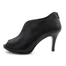 全真皮魚口高跟踝靴-黑色蛇紋‧karine(MIT台灣製)